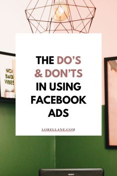 Get started with Facebook Ads Marketing the right way by learning the Do's and Dont's using Facebook Ads. Read the blog post first before creating your first Facebook Ads campaign, with topics discussed like: Facebook marketing strategy for small business, how to promote your business on Facebook, how to start making money from home, work from home tips and how to grow your small business through social media. #facebookads #facebookmarketing #smallbiztips