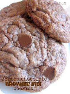 Double Chocolate Brownie Mix Cookies || SixSistersStuff.com