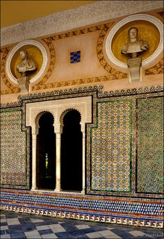 La Casa de Pilatos (Pilate's House), an Andalusian palace in Seville, Spain