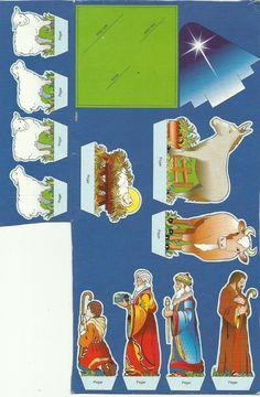 Imágenes para armar  el Nacimiento del Niño Dios en el empaque de galletas navideñas de colombina del año 2006, creo que es diseño del Doctor Gabriel Ripoll