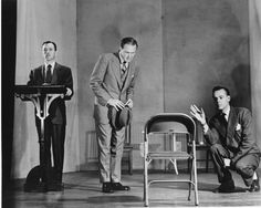 After his death, Beers' wife Clara agreed to have a play produced about his life. She demanded, however, that it be written in a way in which the central figure never appeared on stage. The name of the long forgotten play is telling: My Name Is Legion. In this picture, unnamed individuals, enact the play.