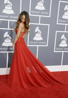 Rihanna in Red!