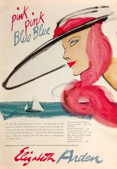 "Elizabeth Arden ""Pink Pink Blue Blue"" Cosmetics Ad, 1956 Vintage Makeup Ads, Vintage Beauty, Vintage Ads, Perfume Ad, Vintage Perfume, Makeup Advertisement, Beauty Ad, Beautiful Perfume, In Cosmetics"
