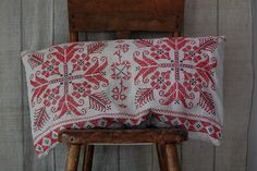 Russian pillow cover. I want to learn how to do this sort of needlework.
