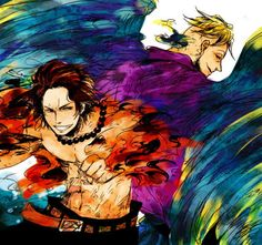 Marco the pheonix and Ace #one piece
