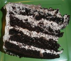 Beautiful Bites: Hershey Bar Cake - This was served at Senator Basnight's Lone Cedar Restaurant.  We went there for my husband's birthday.  It's also called Swiss Chocolate cake.  So luscious and SO GOOD!!