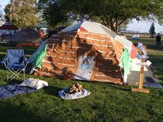One of the decorated tents during Camping Under the Stars in Marana, AZ
