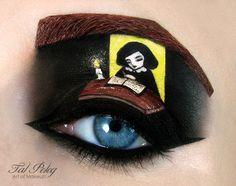 Creative Eye Makeup Illustrations by Tal Peleg – Rania's Random Corner…. Eye make up Creative Eye Makeup Illustrations by Tal Peleg Crazy Eye Makeup, Creative Eye Makeup, Eye Makeup Art, Eye Art, Fancy Makeup, Makeup Tips, Looks Halloween, Halloween Eyes, Halloween Makeup
