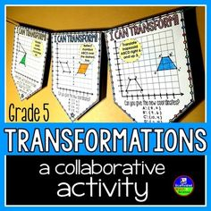 Browse over 420 educational resources created by Scaffolded Math and Science in the official Teachers Pay Teachers store. 5th Grade Behavior, Teaching 5th Grade, 8th Grade Math, Teaching Math, Maths, Transformations Math, Geometric Transformations, Math Games, Math Activities