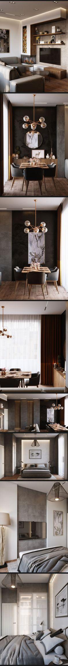 Дизайн гостинной,кухни и спальни . - Галерея 3ddd.ru - #decoracion #homedecor #muebles