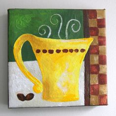 Original Painting FOR the LOVE of COFFEE Four