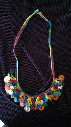 Crochet your own button necklace kit by SneezeWeedsStudio on Etsy, $8.75