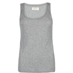 AllSaints Stam Tank ($19) ❤ liked on Polyvore featuring tops, shirts, tank tops, tanks, blusas, grey marl, grey racerback tank, slim shirt, racerback tank and gray shirt