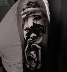 #dolly #womantattoo #tattoos #tattooart Tattoos For Women, Portrait, Instagram, Woman Tattoos, Headshot Photography, Portraits, Tattoo Women