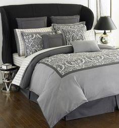 Tommy Hilfiger Hudson Valley Grey Paisley King Comforter Set by comfortersets, via Flickr