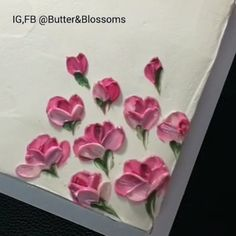 She makes those buttercream flowers look so easy 😍 would you try this technique?Peony All Buttercream painting With knife palette. I love peony , she look mystery and romance flower. Frosting Flowers, Buttercream Flower Cake, Cake Icing, Buttercream Frosting, Eat Cake, Cupcake Cakes, Cake Flowers, Italian Buttercream, Royal Icing Flowers