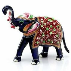 Embellished Elephant - a royal wedding favour Elephant Parade, Elephant Love, Elephant Art, Elephant Sculpture, Sculpture Art, Ceramic Sculptures, Elefante Hindu, Paper Mache Animals, Delta Girl