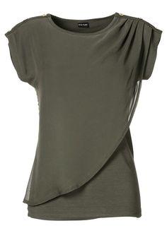 Chiffon shell shirt top Boxy shirt top • £22.99 • bonprix