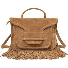 Pierre Hardy Alpha Twin Fringe bag (465 CAD) ❤ liked on Polyvore featuring bags, handbags, shoulder bags, brown, handbags shoulder bags, purse shoulder bag, brown shoulder bag, fringe purse and brown hand bags