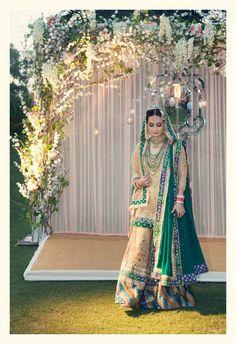 Dia Mizra wedding lengha, Ritu Kumar