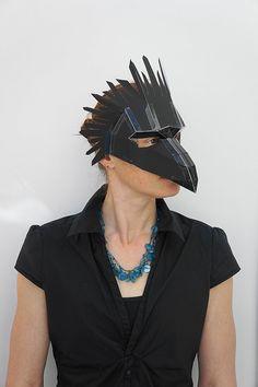 Make your own bird mask par Wintercroft sur Etsy