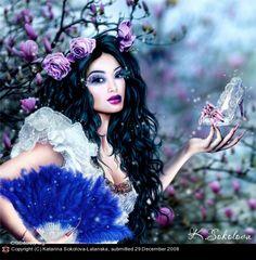 Cinderella in Magnolia's Garden • Katarina Sokolova-Latans'ka