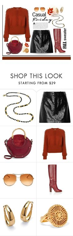 """Casual fall Friday"" by outfitsloveyou ❤ liked on Polyvore featuring Chloé and Palm Beach Jewelry"