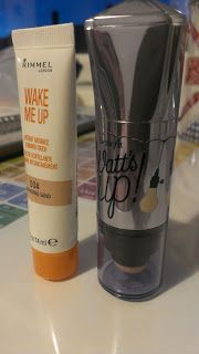 BellsAndButtons: Dupe Scoop: Benefit Watt's Up & Rimmel Wake Me Up Shimmer Touch in 004 (Shimmering Sand)