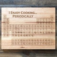 A periodic-table cutting board.