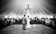 Oatlands Historic House & Gardens- featured on Borrowed & Blue! Tented, outdoor reception; first dance. Lovesome Photography.