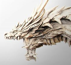 A Bone Dragon, a rare subspecies of white dragon that live in secluded, temperant moutains. Instead of freezing winds, this creature creates billowing winds that can blast large objects and even the most powerful of adventurers. Monster Design, Dragon Chess, Animal Drawings, Monster, Dragon Artwork, Dragon Sculpture, Statue, Art, Sculpting