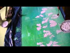 Abstract flower painting - Sabine Belz: video tutorial; spoken in English.  (Abstrakte Blumenwiese, gespachtelt, lange Version - YouTube)