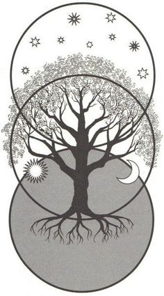 Future Tattoo. This is called the World Tree. It shows the Underworld, the Middle World, and the Upper World.
