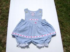 vintage gymboree girls romper dress size 3-6 months see