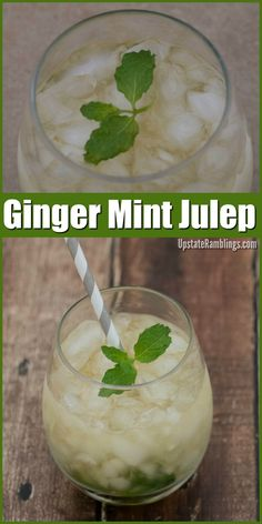 Ginger Mint Julep Recipe - a refreshing and easy to make cocktail perfect for Kentucky Derby parties made with mint, ginger and bourbon #cocktails #mint #kentuckyderby #ginger #bourbon