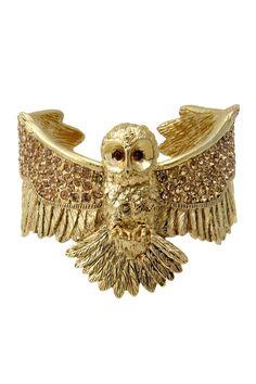 Gold Owl Cuff