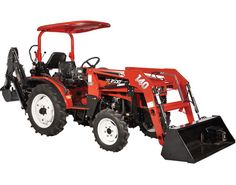 NorTrac 25XT 25 HP 4WD Tractor with Front End Loader & Backhoe — with Ag. Tires  for  $20,500
