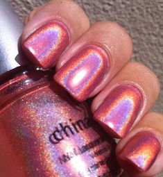 China Glaze OMG Collection - TTYL - definitely a summer color for the toes! Great Nails, Fabulous Nails, Gorgeous Nails, Crome Nails, China Glaze Nail Polish, Gel Polish, Pin On, Holographic Nails, Fancy Nails
