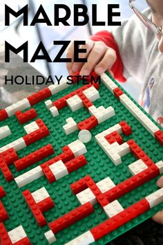 Christmas Marble Maze LEGO STEAM Activity for Kids LEGO Christmas Marble Maze STEAM Christmas Countdown. LEGO activity for kids. A marble maze is good for visual processing skills, fine motor skills, and motor planning skills. Christmas Countdown, Lego Christmas, Christmas Balloons, Christmas Planning, Christmas Items, Christmas Ornaments, Christmas Holiday, Stem Projects, Lego Projects