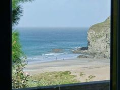 Seacott - A lovely detached cottage set in a dramatic location on the cliffs above Porthtowan Beach. Open plan living area with woodburner. St Agnes, Open Plan Living, Cornwall, Coastal, Deck, English Cottages, Water, Holiday, Outdoor