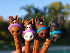 Polymer Clay Brown Horse Pen by handmademom on Etsy