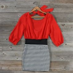 love red with stripes<3 cute #dress