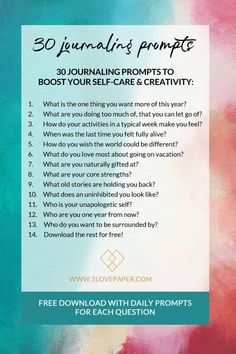 Journaling prompts and writing prompts with a different question every day for 30 days of self-care, self-love and daily reflection. Journal Writing Prompts, Memoir Writing, Blog Writing, Journal Inspiration, Daily Inspiration, Cherish Life, Journal Questions, Mental Health Journal, Reflection Questions