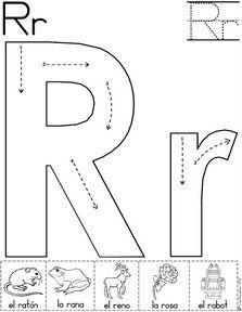letra r fichas del abecedario y el alfabeto para descargar gratis para imprimir de niños