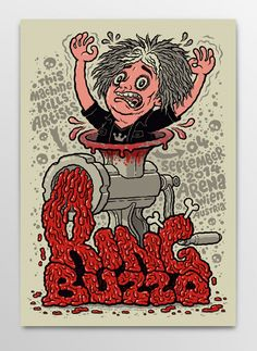 Screen printed gig poster for King Buzzo of The Melvins at Arena Wien by illustrator and comic artist Michael Hacker