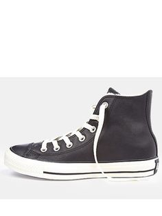 Might just have to treat myself! Converse Chuck Taylor Leather All Star  Plimsolls - Black