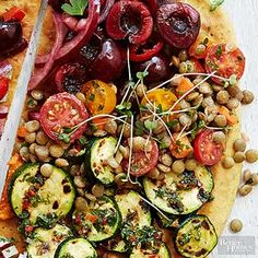 Garlic Lentil Salad- This garlicky lentil salad is great served on chewy flat bread./