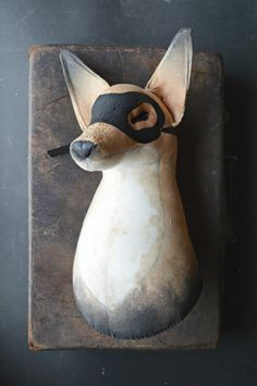 """""""Fox"""" from Mister Finch's """"Cinder Embers"""" exhibition at Anthropologie, King's Road, London"""