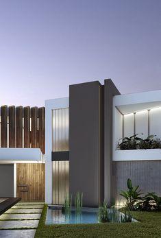 González y Asociados Casa L162 Fashadas de casas Pinturas de casas exterior Fachadas de casas modernas