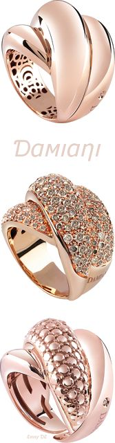 Brilliant Luxury by Emmy DE * Damiani 'Gomitolo' Rings ORAMGE GOLD KI ROSE GOLD NG FIRST GODD